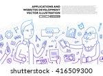 set of application development  ... | Shutterstock .eps vector #416509300