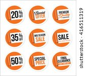 promotional sale stickers... | Shutterstock .eps vector #416511319