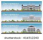 set of university study banners.... | Shutterstock .eps vector #416512243