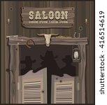wild west saloon | Shutterstock .eps vector #416514619