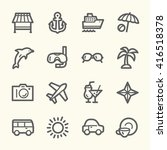travel web icons.  vacation and ... | Shutterstock .eps vector #416518378