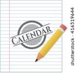 calendar emblem draw with...   Shutterstock .eps vector #416519644