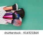 makeup brushes  | Shutterstock . vector #416521864