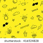 vector seamless pattern with... | Shutterstock .eps vector #416524828