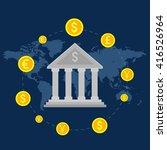 monetary turn around the bank ...   Shutterstock .eps vector #416526964