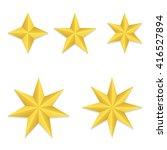 Set Of Five Different Golden...