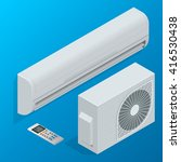 isometric air conditioner.... | Shutterstock .eps vector #416530438