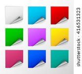blank colorful square stickers... | Shutterstock .eps vector #416531323