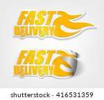 fast delivery stickers with... | Shutterstock .eps vector #416531359