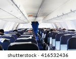 inside airplane view   Shutterstock . vector #416532436