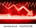 crisis chart with downwards... | Shutterstock . vector #416533108