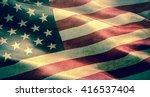 closeup of grunge american usa... | Shutterstock . vector #416537404