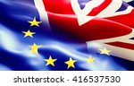 brexit separated half flag of...   Shutterstock . vector #416537530
