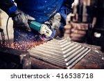 industrial engineer working on... | Shutterstock . vector #416538718