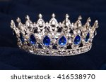 royal crown with sapphires ... | Shutterstock . vector #416538970
