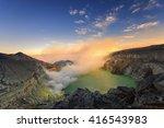 the ijen volcano complex is a... | Shutterstock . vector #416543983