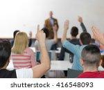 senior teacher teaching lessons ...   Shutterstock . vector #416548093