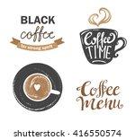 set of vintage retro coffee... | Shutterstock .eps vector #416550574
