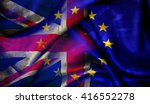 Flag Of The European Union And...