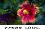 an abstract reddish flower made ... | Shutterstock . vector #416553433