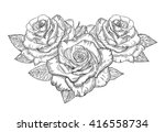vector sketch of roses