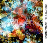 abstract seamless vector... | Shutterstock .eps vector #416560600