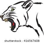 puma wild animal illustration | Shutterstock .eps vector #416567608