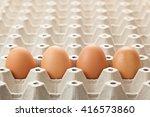 eggs on egg rag. egg cartons... | Shutterstock . vector #416573860