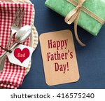 above view of happy father's...   Shutterstock . vector #416575240