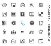 mobile phone application icons... | Shutterstock .eps vector #416584420