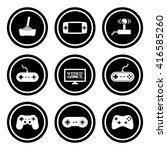 video games icon set.  raster... | Shutterstock . vector #416585260
