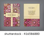 vintage cards with floral... | Shutterstock .eps vector #416586880