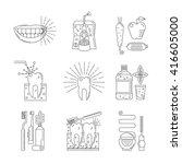 dental hygiene pictogram... | Shutterstock .eps vector #416605000
