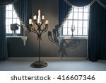 large candlestick stands on the ... | Shutterstock . vector #416607346