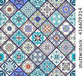 vector seamless texture.... | Shutterstock .eps vector #416609314