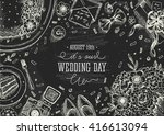 wedding party background.... | Shutterstock .eps vector #416613094