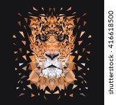 low poly design. tiger... | Shutterstock .eps vector #416618500