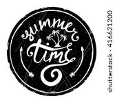 summer time   ink hand drawn... | Shutterstock .eps vector #416621200