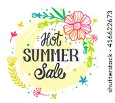 summer sale design with... | Shutterstock .eps vector #416622673