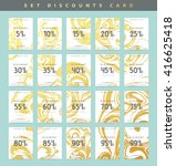 discounts coupon price tag.... | Shutterstock .eps vector #416625418