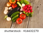 vegetables . fresh bio... | Shutterstock . vector #416632270