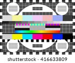 glitch digital image data... | Shutterstock .eps vector #416633809