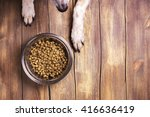 bowl of dry kibble dog food and ... | Shutterstock . vector #416636419