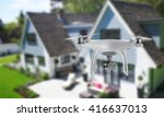 drone quad copter with camera... | Shutterstock . vector #416637013