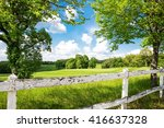 spring country landscape | Shutterstock . vector #416637328