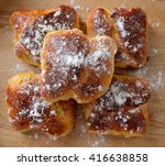 "delicious  romanian cheese pie ""... | Shutterstock . vector #416638858"