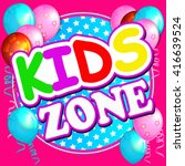 kids zone banner design.... | Shutterstock .eps vector #416639524