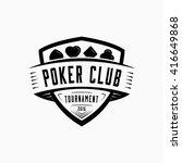 poker logo. vector and...   Shutterstock .eps vector #416649868