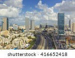 tel aviv city skyline and... | Shutterstock . vector #416652418
