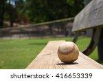 baseball on a bench in a little ... | Shutterstock . vector #416653339